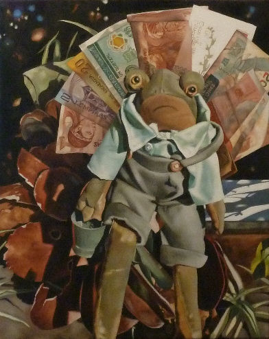 Border Crossing, a painting by Australian artist Katherine Edney
