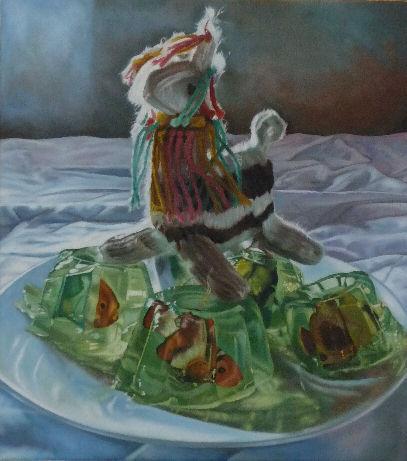 Isla Del Pescado, a painting by Australian artist Katherine Edney