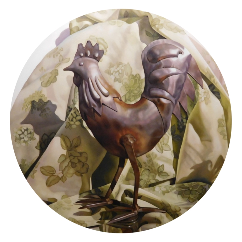 Full Metal Rooster, a painting by Australian artist Katherine Edney