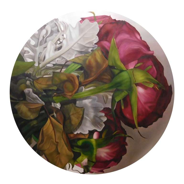 Some Roses Are Red 2, a painting by Australian artist Katherine Edney