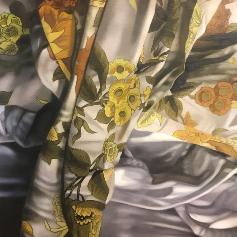 'Flowers on the Bed I', a painting by Australian artist and Archibald Prize finalist Katherine Edney.