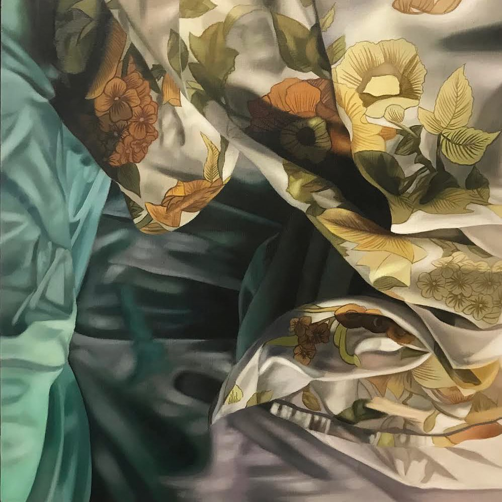 Flowers on the bed IV - a painting by Katherine Edney.